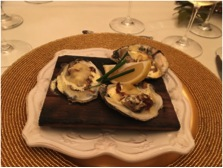 Wood Plank Roasted Oysters