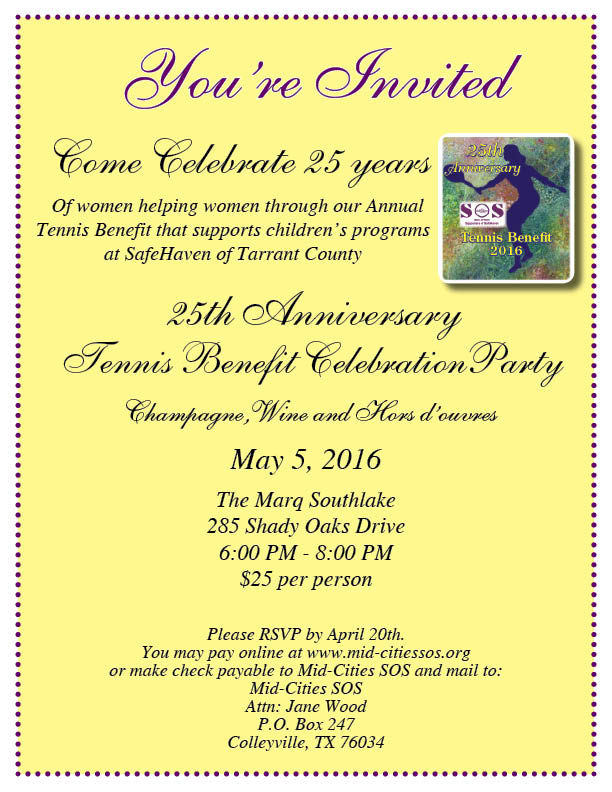 Tennis Celebration Invitation