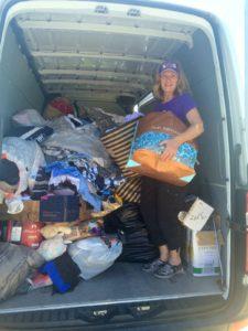 Donation truck full