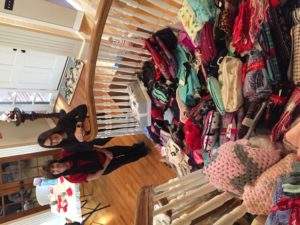 Beth and Kathryn with donated pjs